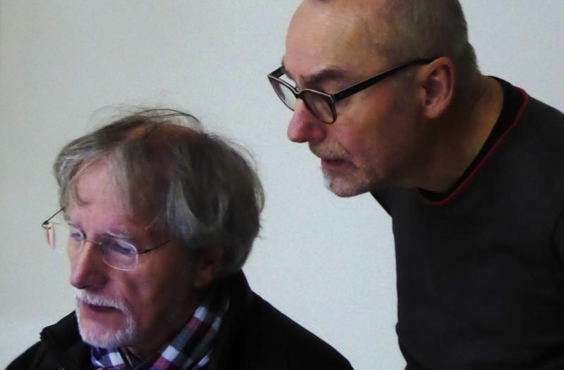 Gerd und Peter Wiessenthaner vor Beginn 12.Dez.2015