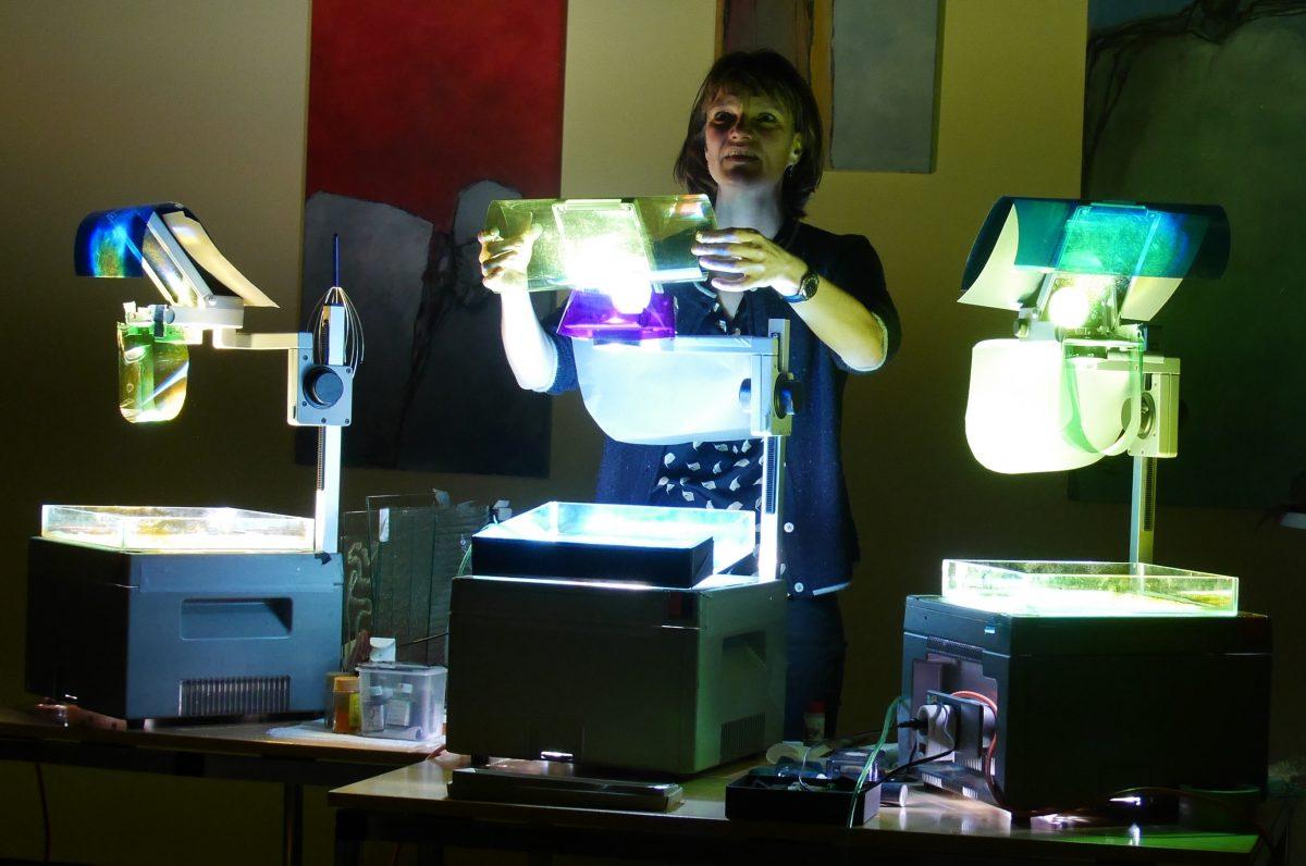 Die Lichtkuenstlerin Katrin Betge